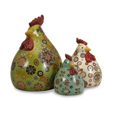 3 Piece Chickens Figurine Set