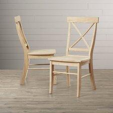 Lillian Cross Back Side Chair (Set of 2)