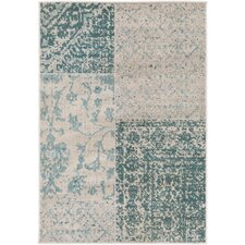 Jerome Woven Teal & Beige Area Rug