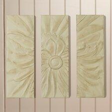 Lidia 3 Piece Metal Flower Wall Decor Set