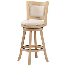 "Hettinger 29"" Swivel Bar Stool with Cushion"