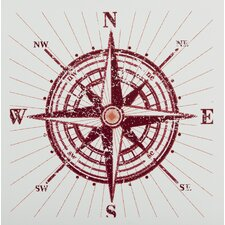 Compass Graphic Art on Canvas