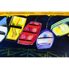 Painted Boats Graphic Art on Canvas