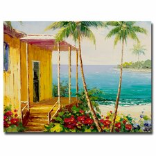 Palm Harbor Painting Print on Canvas