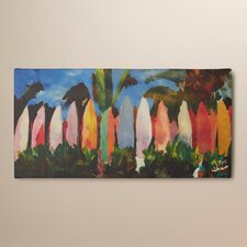 'Surf Wall 2' by Martina and Markus Bleichner Painting Print on Canvas