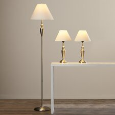 3 Piece Floor 63.5'' H Table Lamp with Empire Shade Set