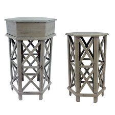 Alford 2 Piece Nesting Table Set