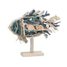 Artistically Designed Driftwood Fish Figurine