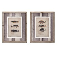 2 Piece Catch of the Day Wall Art Set