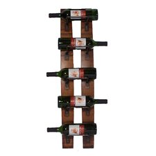 Parrsboro 5 Bottle Wall Mounted Wine Rack