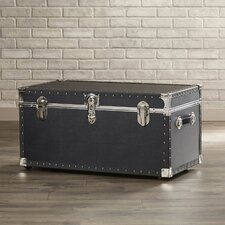 Newton Oversize Trunk with Wheels in Black