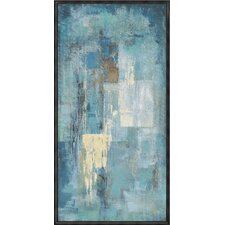 Indigo Framed Painting Print on Canvas
