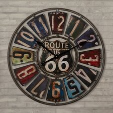 "Hazelwood Route 66 License Plate 22.75"" Wall Clock"