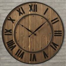 "Northrop Oversized Wine Barrel 24"" Wall Clock"