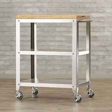 Kitchen Cart with Butcher Block Top