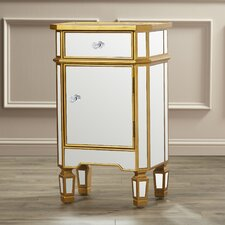 Hugo Mirrored 1 Drawer End Table
