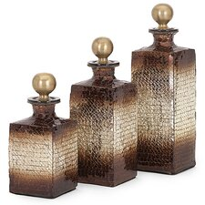 Kamrin 3 Piece Mosaic Bottle Set