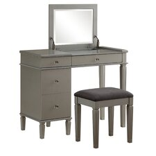 Alexanderia 2 Piece Vanity Set with Mirror