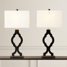 "Bentham 31.75"" H Table Lamp with Rectangular Shade (Set of 2)"
