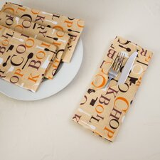 Chef Print Cotton Napkin (Set of 4)