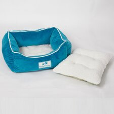 Flannel Pet Bed with Removable Pillows