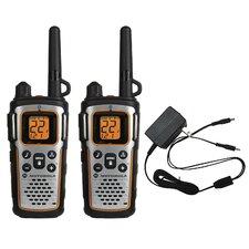 35 Mile Range Waterproof Radio with Bluetooth (2 Pack)