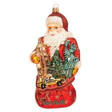 Pinnacle Peak Glass Santa Claus in New York Christmas Ornament