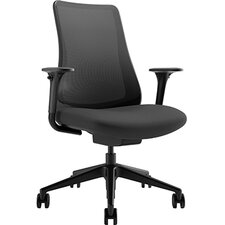 Task Seating Mid-Back Mesh Chair with Adjustable Arms