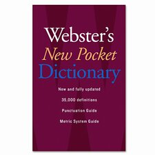 Webster's New Pocket Dictionary, Paperback, 336 Pages (Set of 2)