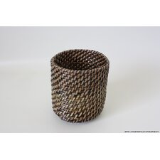 Round Weave Glass Cup Holder