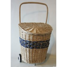 Willow Hamper with Wheel