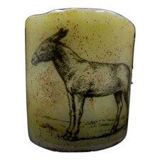 Donkey Graphic Flameless Candle