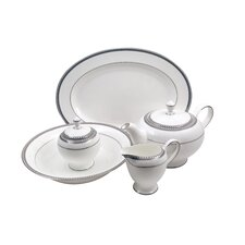 Classic Chablis Bone China Traditional Serving 5 Piece Dinnerware Set
