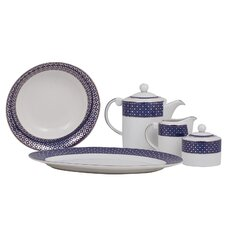 Empire Fine China Traditional Serving 5 Piece Dinnerware Set