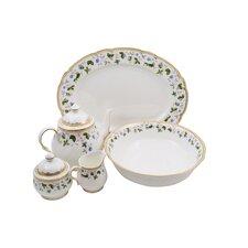 Everglades Bone China Traditional Serving 5 Piece Dinnerware Set