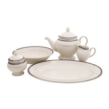 Forever Ivory China Traditional Serving 5 Piece Dinnerware Set