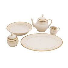 Galaxy Ivory China Traditional Serving 5 Piece Dinnerware Set