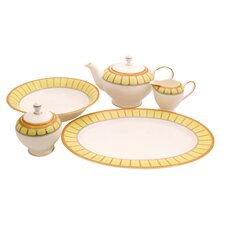 Discovery Bone China Traditional Serving 5 Piece Dinnerware Set