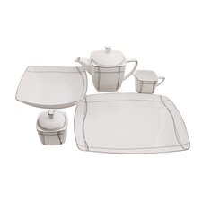 Imperial Square Bone China Traditional Serving 5 Piece Dinnerware Set