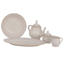 Spring Valley Ivory China Traditional Serving 5 Piece Dinnerware Set