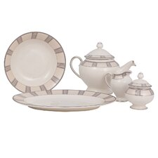 Linen Ivory China Traditional Serving 5 Piece Dinnerware Set