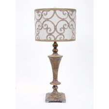 "Resin 32"" H Table Lamp with Drum Shade"