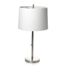 "Fangio Brushed Steel 26"" H Table Lamp with Drum Shade"