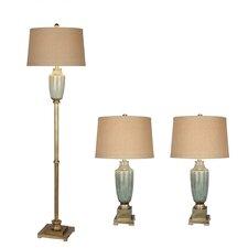 3 Piece Table/Floor Lamp Set