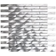 Aluminum Mosaic Tile in Silver