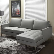Regency Top Grain Leather Right Hand Facing Sectional