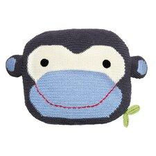 Robbie Monkey Cotton Throw Pillow