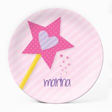 """Princess Wand 10"""" Personalized Plate"""