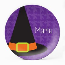 "Witch Is In 10"" Personalized Plate (Set of 4)"