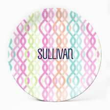 "Colorful Trellis 10"" Personalized Plate (Set of 4)"